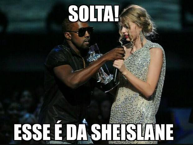 Episódio foi comparado a polêmica envolvendo o rapper Kanye West, que 'tomou' troféu de Taylor Swift e disse que Beyoncé merecia mais, em premiação musical de 2009 (Foto: Reprodução)