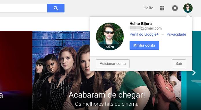 Verifique se você está logado na mesma conta usada no Android (Foto: Reprodução/Helito Bijora)