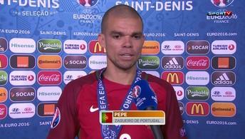 Pepe analisa a vitória e exalta humildade da seleção portuguesa (Reuters)