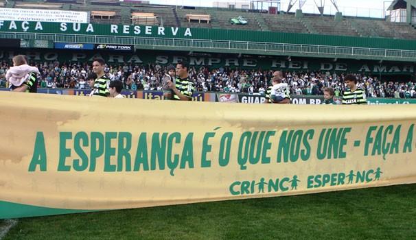 Criança Esperança no Brasileirão Coritiba x Vasco (Foto: Assessoria do Coritiba)