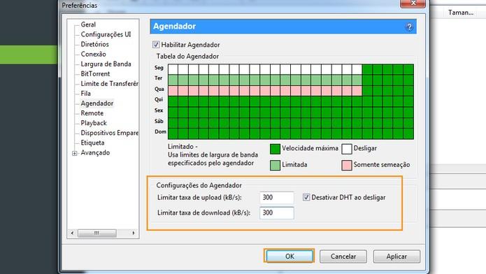 Limitando taxa de download e upload no uTorrent (Foto: Reprodução/Barbara Mannara)