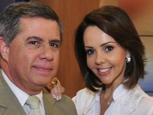 Os apresentadores do Jornal do Almoço em Florianópolis (Foto: Divulgação)