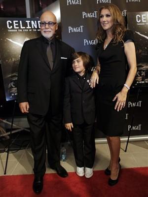 Celine Dion, Rene Charles e Rene Angelil (Foto: AP)