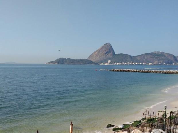 Baía de Guanabara durante Olimpíada (Foto: Divulgação/Secretaria Estadual do Ambiente)