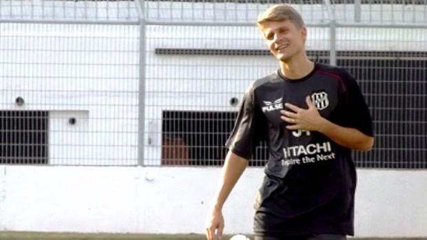 Adrianinho está de volta à Ponte Preta (Foto: Thiago Toledo/ PontePress)