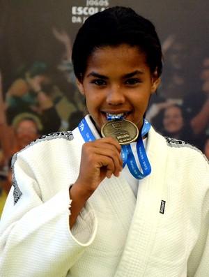 judoca Elenilda Pereira, ouro nos Jogos Escolares da Juventude (Foto: Paulo de Tarso Jr./Sedel-MA)