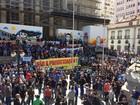 Servidores da segurança do RJ fazem protesto contra pacote do governo