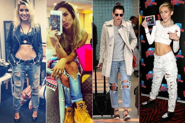 Luiza Possi, Giovanna Ewbank, Fernanda Motta e Miley Cyrus (Foto: Instagram / Reprodução | AgNews | Getty Images)