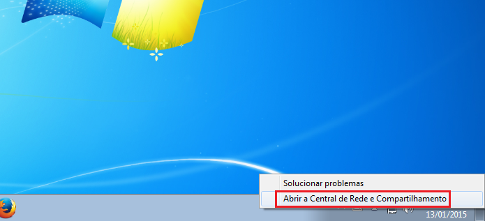Abrindo a Central de Rede e compartilhamento do Windows (Foto: Reprodução/Edivaldo Brito)