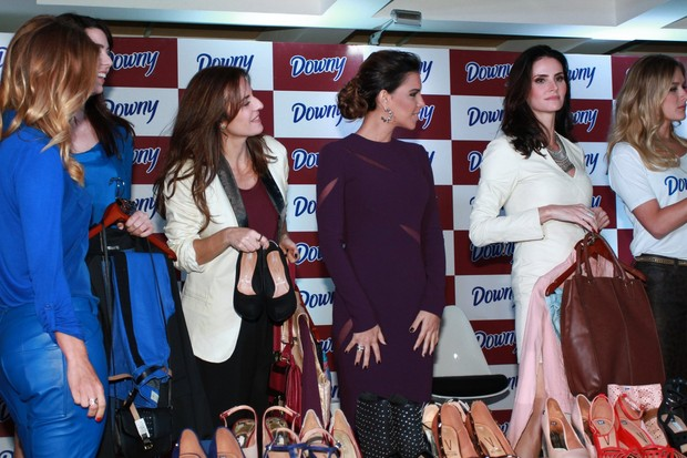 Coletiva Downy - Mariana Rios, Carolina Dieckmann, Fernanda Vasconcelos e Lizandra Souto (Foto: Clayton Militão/Fotorio News)