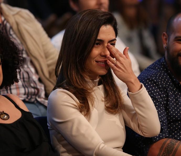 Lua Leça chora com declaração de amor de Maria Gadú (Foto: Carol Caminha/Gshow)