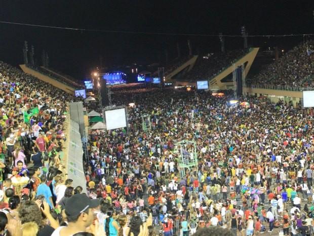 Diante do Trono grava DVD em Manaus e encerra Marcha Para Jesus (Foto: Ana Graziela Maia/G1 AM)