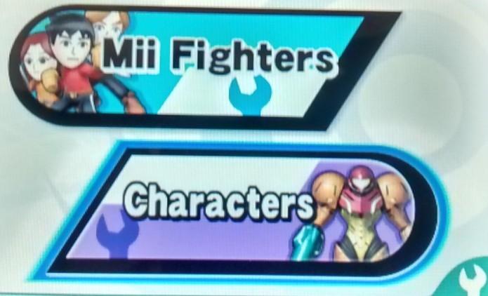Escolha se deseja customizar seus Miis, ou os personagens do jogo (Foto: Reprodução/Paulo Vasconcellos)