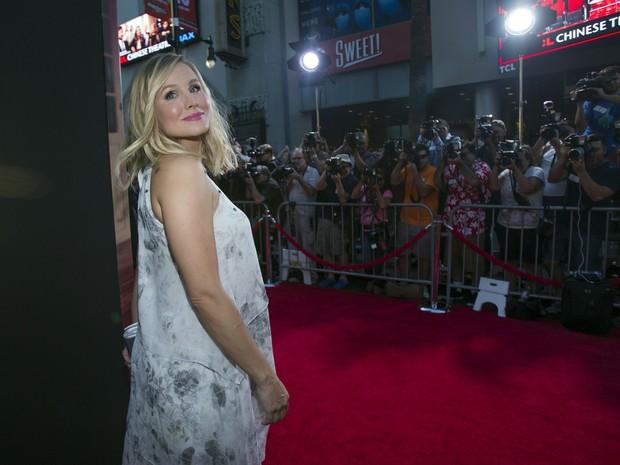 Kristen Bell, grávida, em première de filme em Los Angeles, nos Estados Unidos (Foto: Mario Anzuoni/ Reuters)