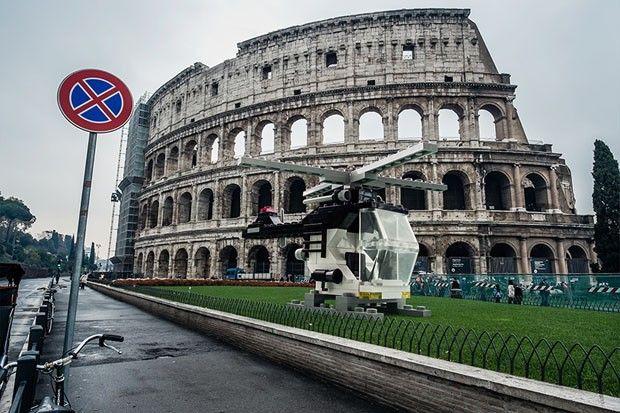 Arquiteto usa LEGO para transformar paisagens de Roma (Foto: Domenico Franco)