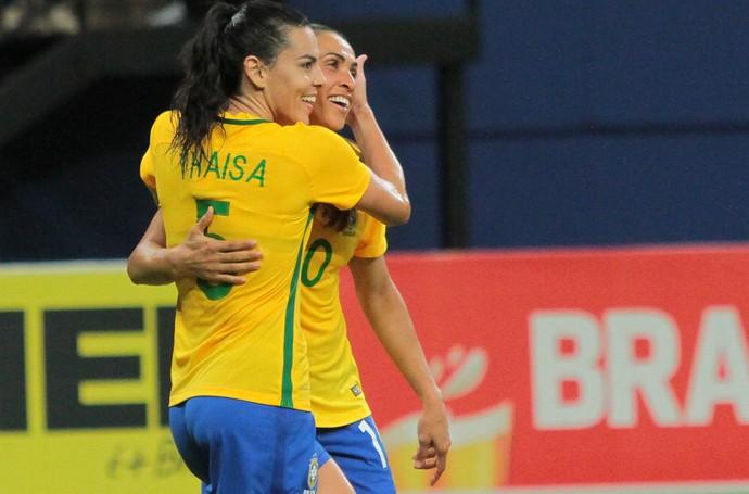 Marta Thaisa Brasil x Bolívia  (Foto: Agência Estado)