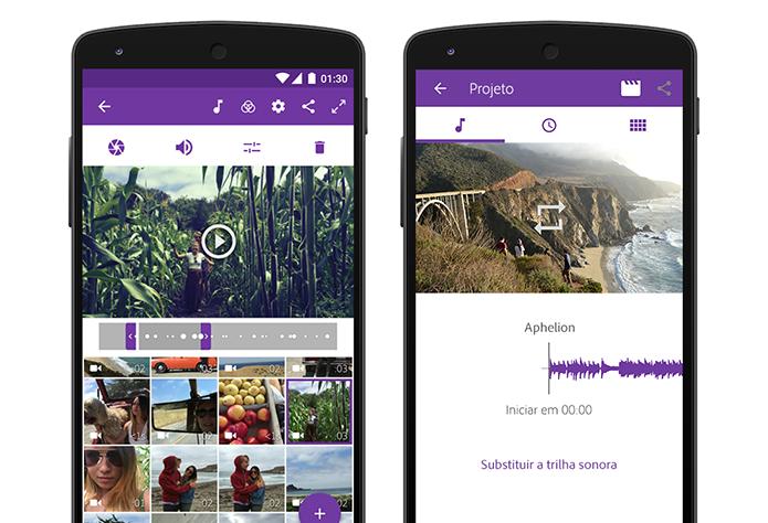 Editor de vídeos Premiere Clip, da Adobe, chega ao Android (Foto: Divulgação)