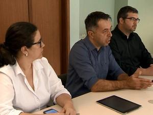 Coletiva reuniu as Secretarias de Estado e Municipal de Saúde em Juiz de Fora dengue (Foto: Reprodução/TV Integração)