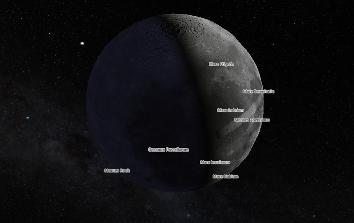 Veja imagens da Lua e de Marte no Google Maps (Foto: Reprodução/Google)