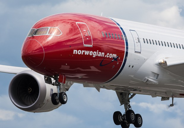 Avião da companhia aérea Norwegian (Foto: ´Divulgação)