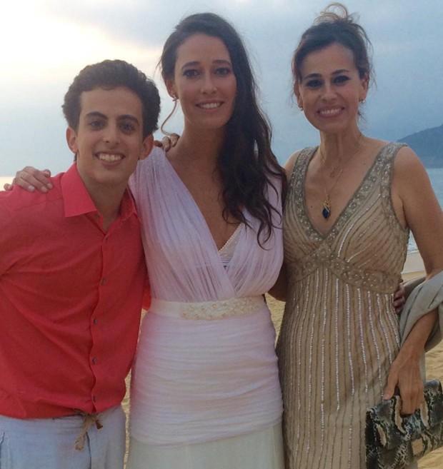 Maria Fernanda Monjardim, André Matarazzo e Daniela Escobar (Foto: Reprodução/Instagram)