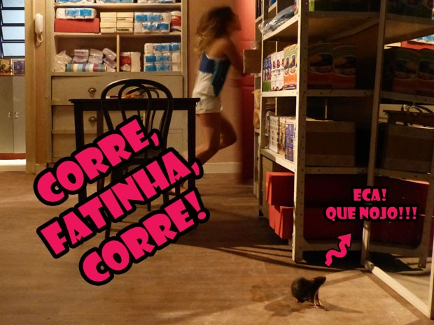 QUE NOJO! Fatinha tá super certeza em sair correndo, né glr? ECA!!!  (Foto: Malhação / Tv Globo)