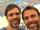 Famosos curtem dia de jogo e torcem para a seleção brasileira no Maraca