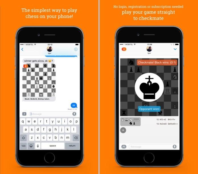 Para os fãs de xadrez, ChessME! é a opção mais completa para o iMessage (Reprodução/ App Store)