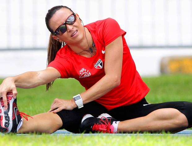 Maurren Maggi treina para o GP de Belém no Pará (Foto: Wagner Carmo/CBAt)
