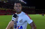Kayke lamenta chance perdida e diz que segundo tempo do Santos foi bem abaixo do esperado