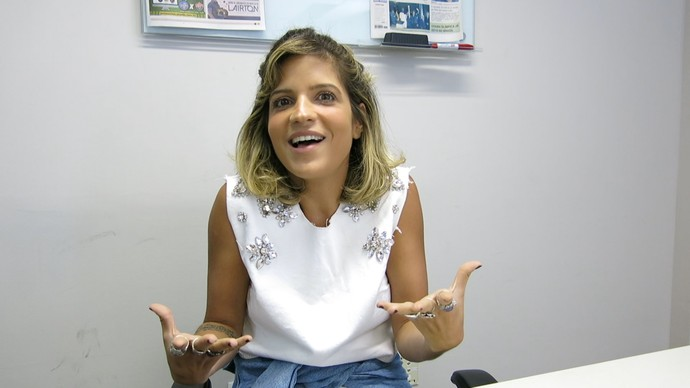 Paula Magalhães fala sobre as delícias e desafios de ser mãe (Foto: TV Bahia)