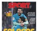 """Jornais destacam Suárez e Messi,  e editor critica Neymar: """"Desleixo"""""""