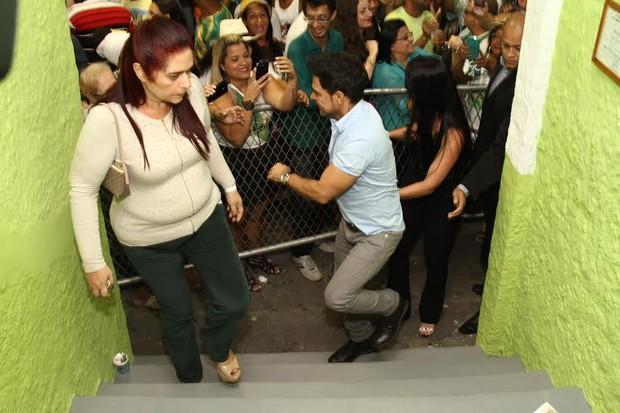 Zezé Di Camargo e Graciele Lacerda na Imperatriz Leopoldinense (Foto: Anderson Borde/AG News)