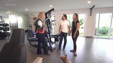 Luciano mostra academia e mais detalhes de sua casa