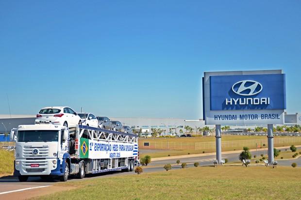 HB20 começa a ser exportado para o Uruguai (Foto: Divulgação)