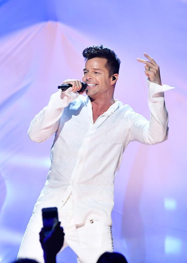 Ricky Martin em prêmio de música em Miami, nos Estados Unidos (Foto: Rodrigo Varela/ Getty Images)