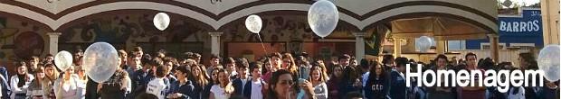 Alunos soltam balões em despedida de diretora que morreu de leucemia (Foto: Daniela Furlan)