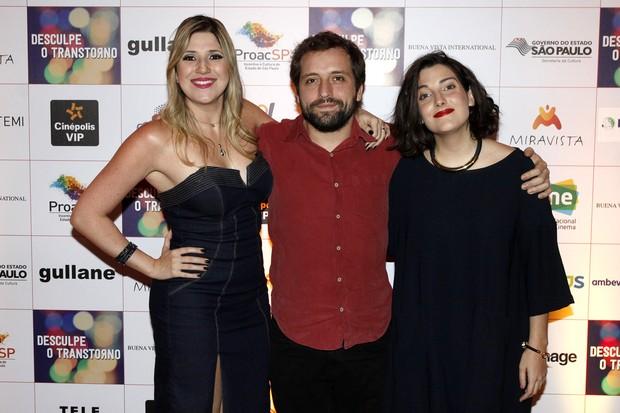 EleDani Calabresa, Gregório Duvivier e Clarice Falcão  (Foto: Celso Tavares / Ego)