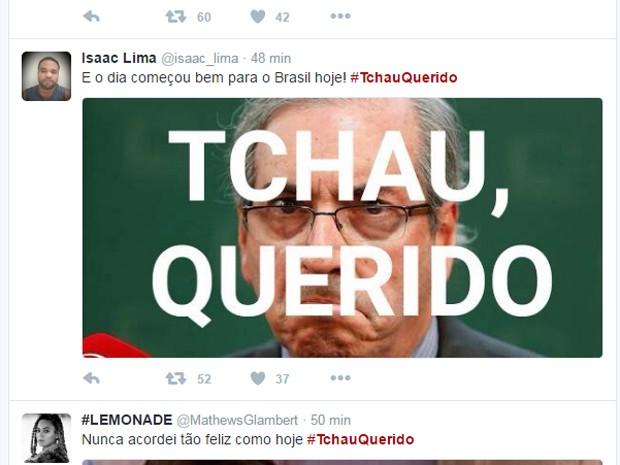 Perfil no Twitter publica meme sobre decisão de ministro do STF de afastar Cunha da Câmara (Foto: Reprodução/ Twitter)