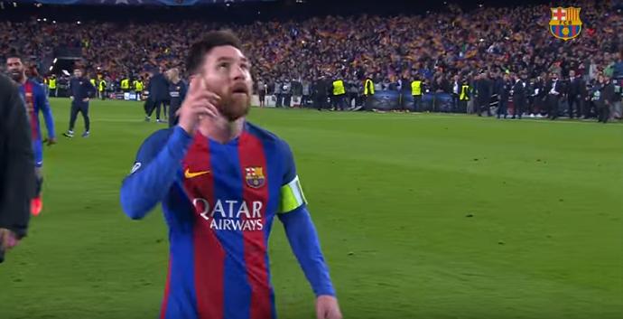 Messi após vitória sobre o PSG