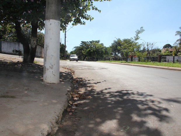 Local onde vítima foi atropelada (Foto: Maurício Duch)