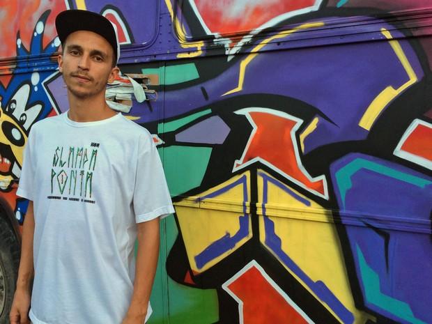 Lucas Afonso, fundador do Slam da Ponta e atual campeão brasileiro de Poetry Slam (Foto: Eduardo Pereira/G1)