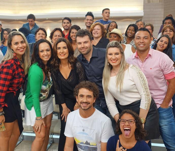 Mais foto com a plateia (Foto: Vinícius Cunha/Gshow)