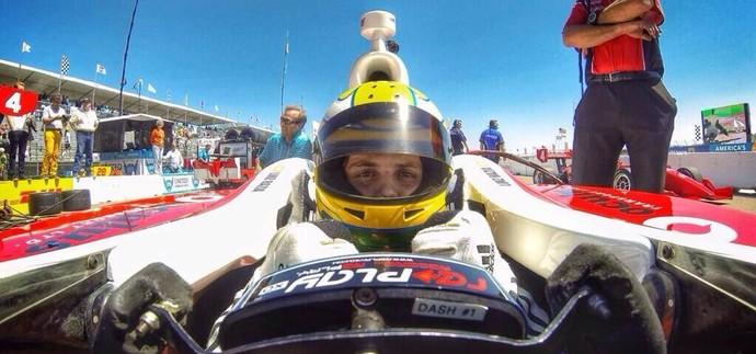 Luiz Razia na estreia na Indy Lights na temporada 2014 (Foto: Divulgação)