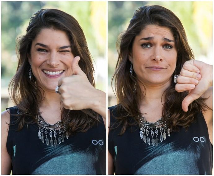 Priscila Fantin em entrevista ping-pong para Tomara que Caia (Foto: Artur Meninea/Gshow)