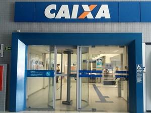 Agência da Caixa Econômica Federal em Mangabeiras (Foto: Lucas Leite/G1)