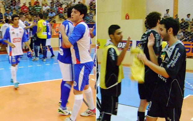 Araçariguama e Tabatinga, finalistas da Copa dos Campeões da TV TEM de futsal (Foto: Fotos: Alan Schneider/Globoesporte.com)