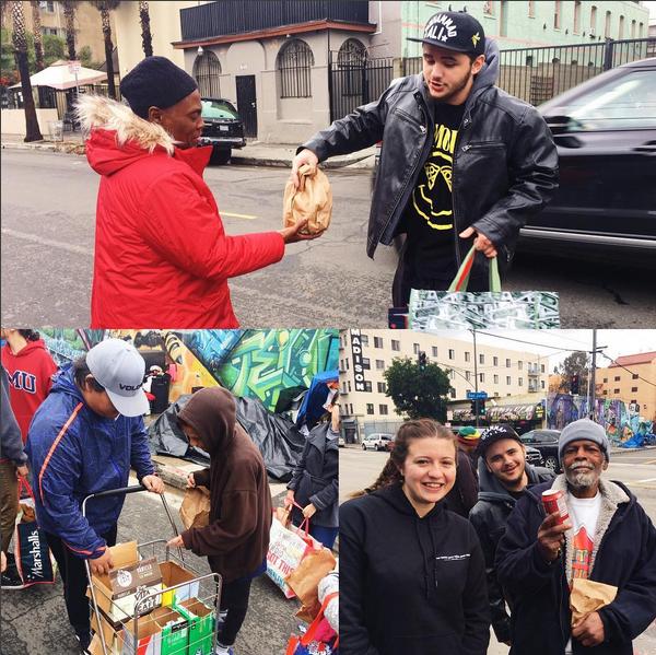 Prince Michael Jackson, filho de Michael Jackson, em ação pela sua organização de caridade (Foto: Instagram)