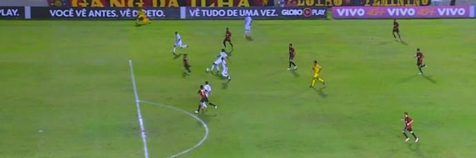 Cleiton Xavier impedido Vitória Sport (Foto: Reprodução SporTV)