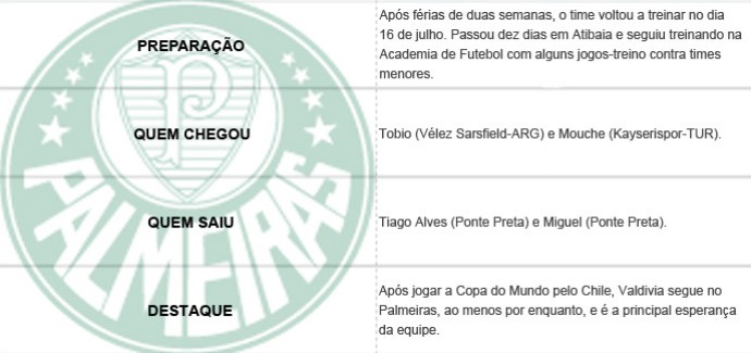 Pacotão dos Clubes - Palmeiras (Foto: Editoria de Arte)